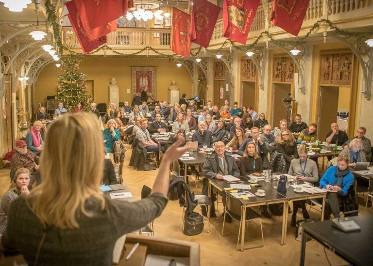 MP Ida Auken giving her presentation
