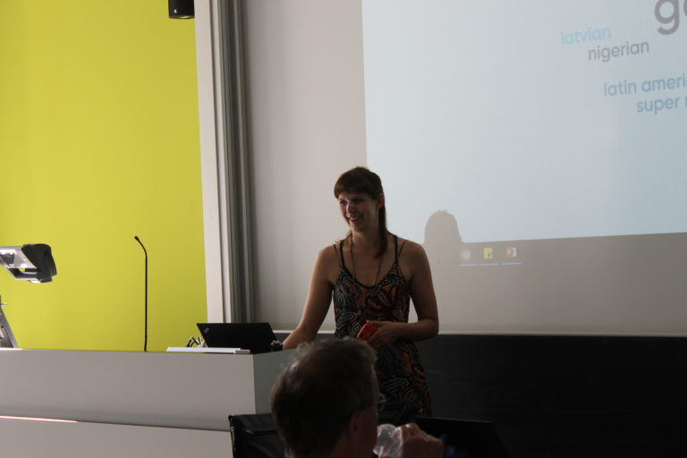 Wienke Reimer introducing Mentimeter to the participants
