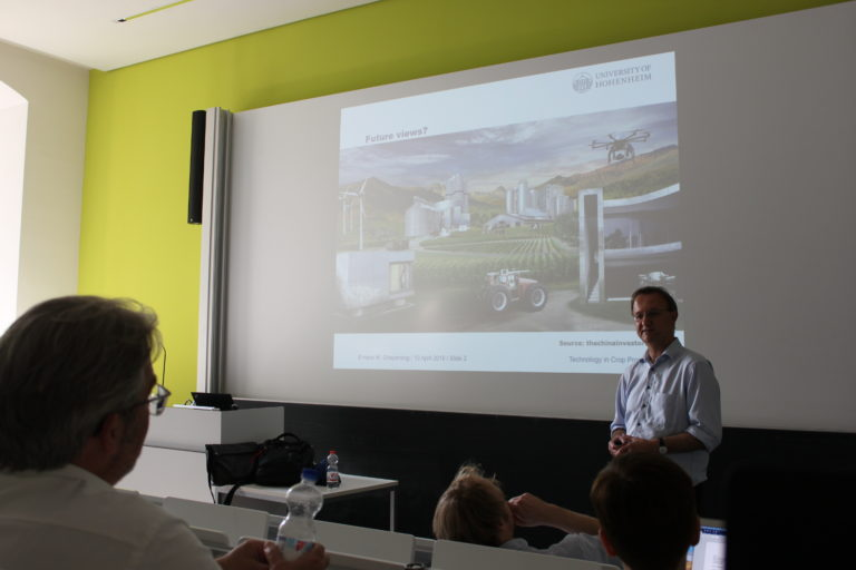 Prof. Hans Griepentrog presenting on agricultural robots